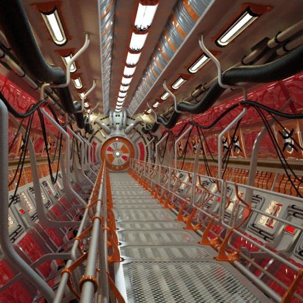 Sci Fi Tunnel - 3DOcean Item for Sale