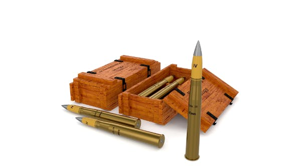 German 88mm Shell - 3DOcean Item for Sale
