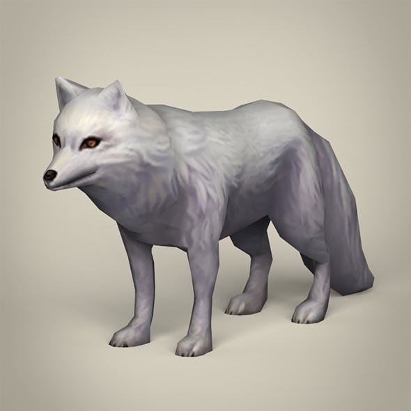 Game Ready White Fox - 3DOcean Item for Sale