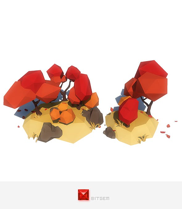 Autumn Trees - 3DOcean Item for Sale