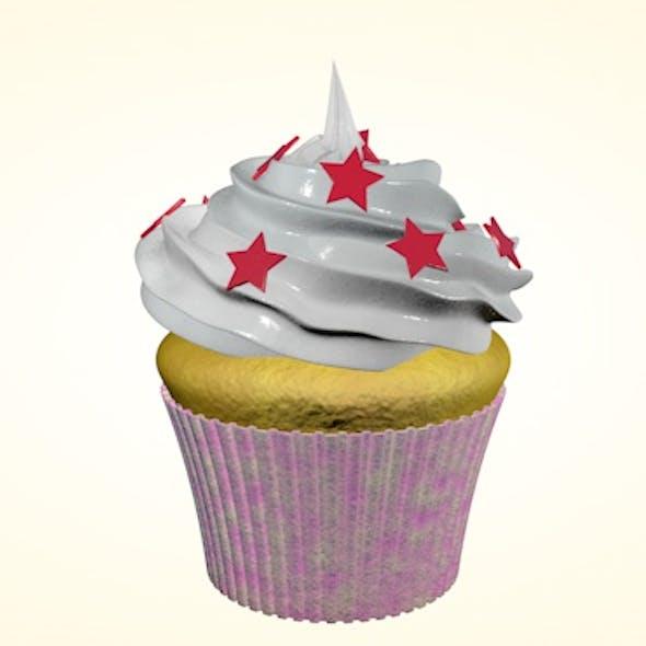 Cupcake with stars