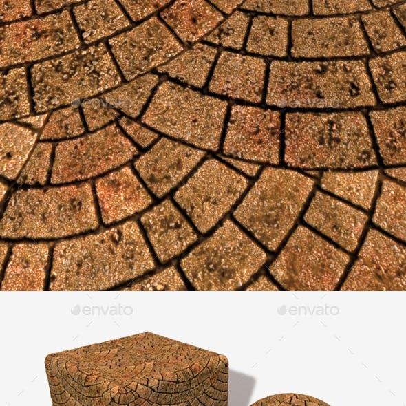 Red Brick Paving Circle Pattern Seamless Texture