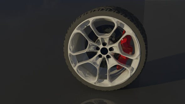 High Poly Sports Car Wheel - 3DOcean Item for Sale