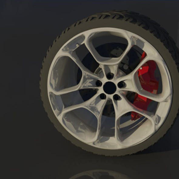 High Poly Sports Car Wheel