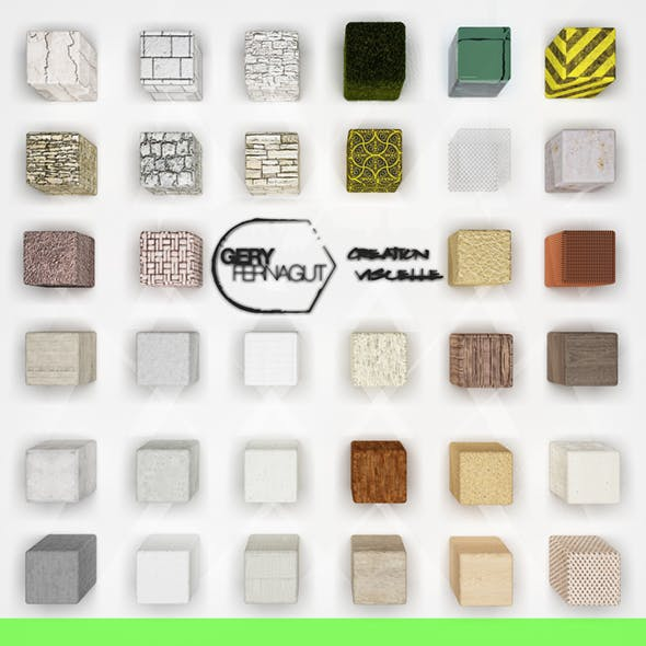 (30+) Materials pack for VRAY C4D
