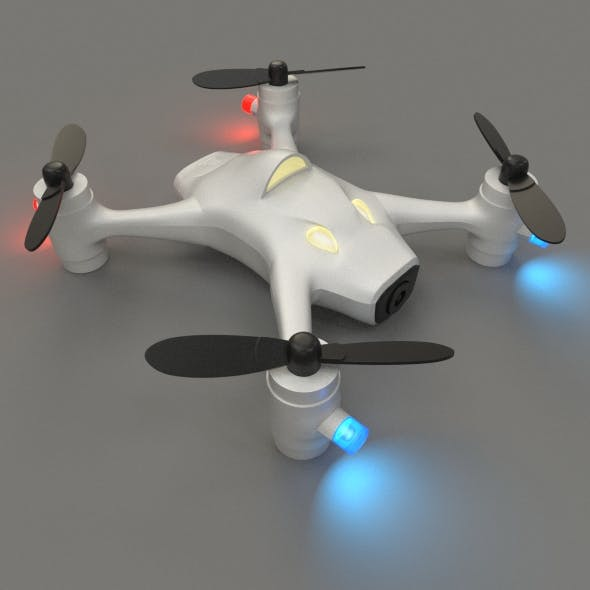 Rigged Quadrocopter with camera