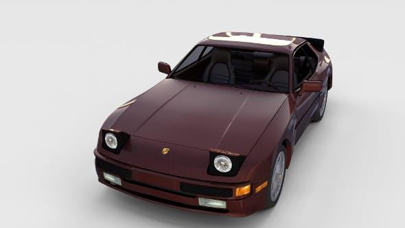 Porsche 944S w interior rev - 3DOcean Item for Sale