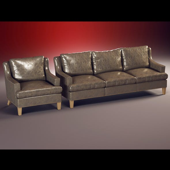 Quality model of classic set sofa, chair
