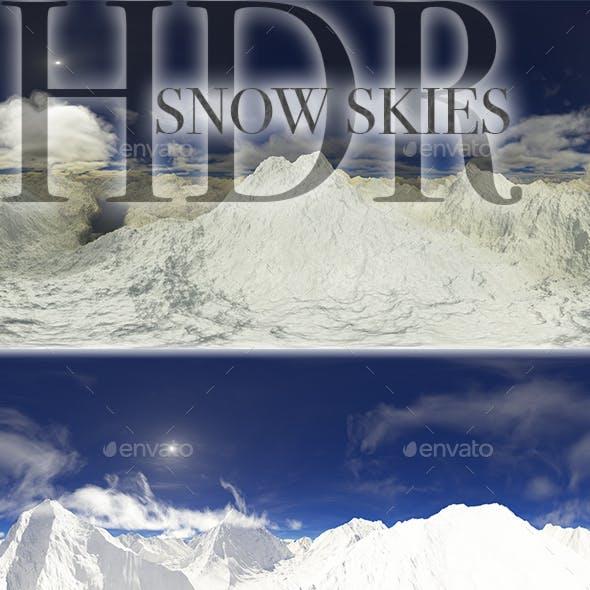 HDR Snow Skies