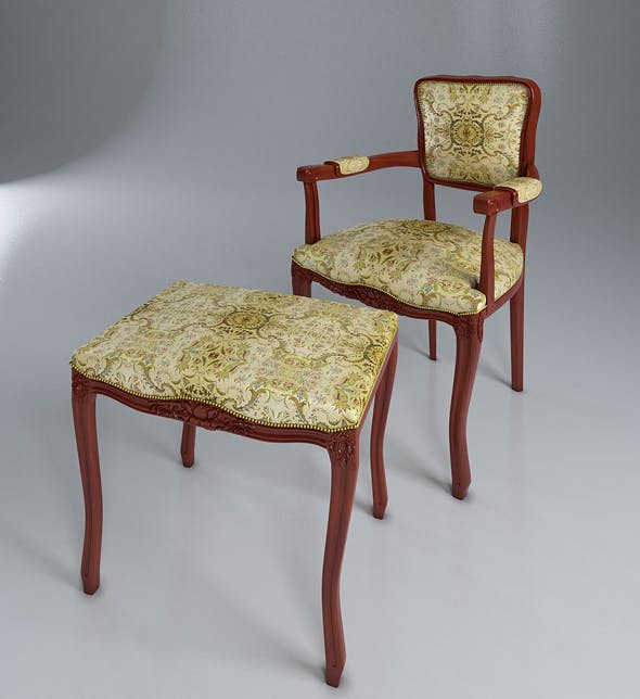 Classic armchair - 3DOcean Item for Sale