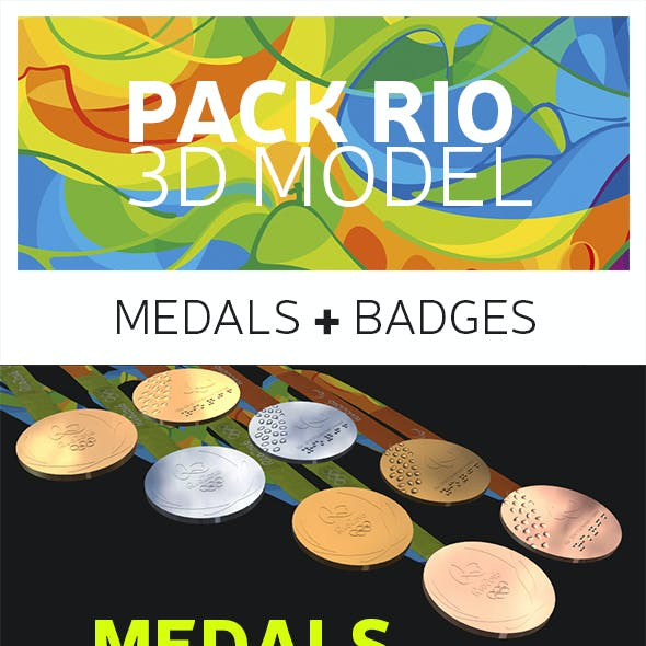 Pack Rio 3D Model