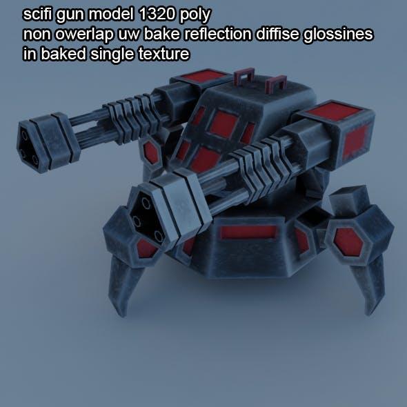 scifi turred gun - 3DOcean Item for Sale