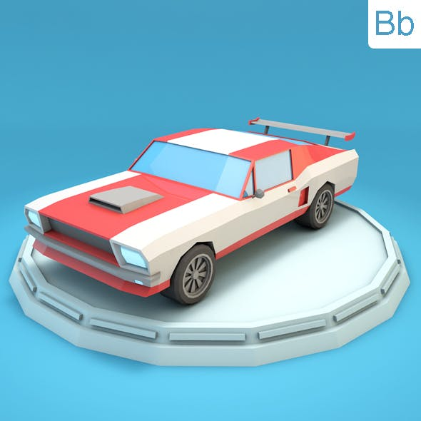 Low Poly Mustang Car