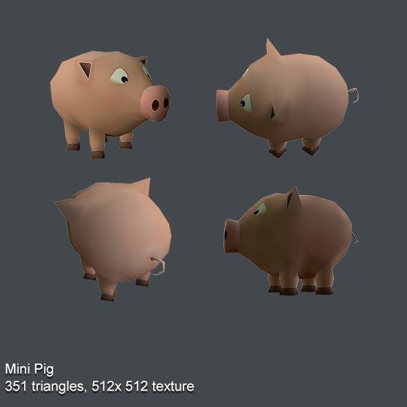 Mini Pig Low Poly