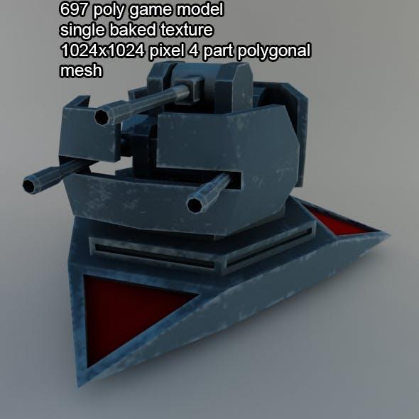 scifi turret gun 2 - 3DOcean Item for Sale
