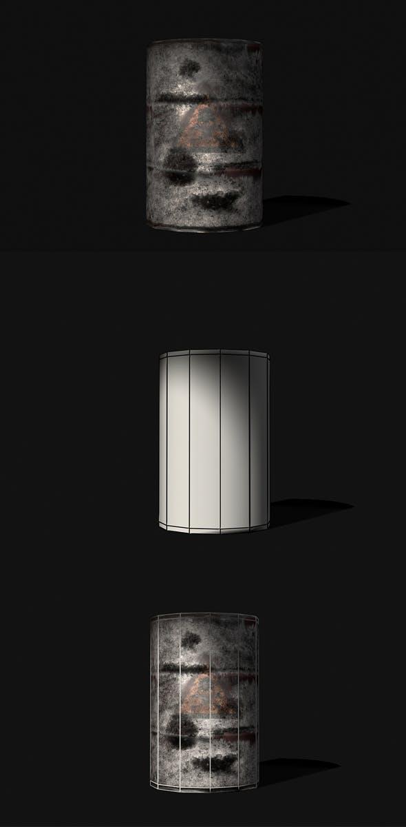 Oil Barrel 3d Model - 3DOcean Item for Sale