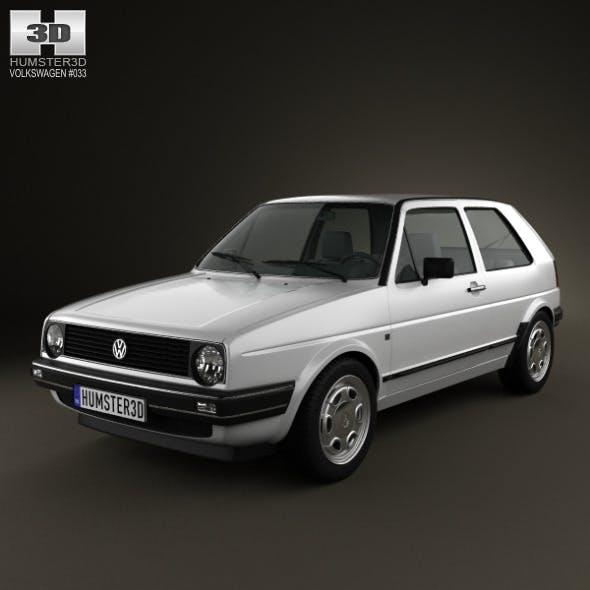 Volkswagen Golf Mk2 3-door 1983 - 3DOcean Item for Sale