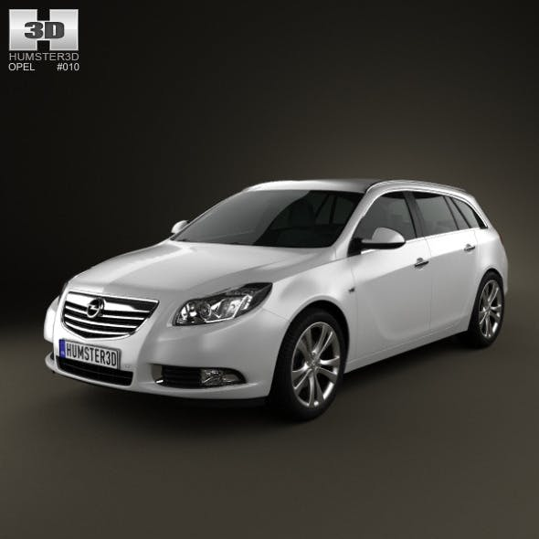 Opel Insignia Sports Tourer 2009 - 3DOcean Item for Sale