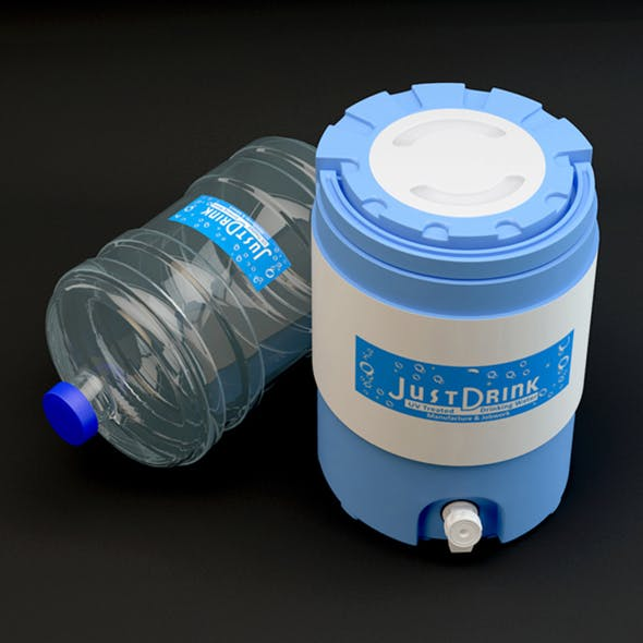 Cool Water Jug & Refill Bottle - 3DOcean Item for Sale