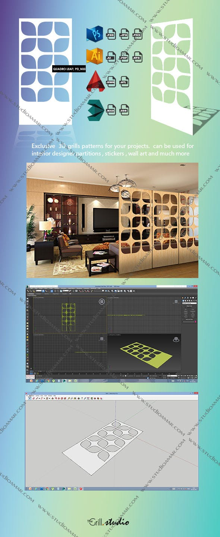 quadro leaf PD-N03 (3D Screen) - 3DOcean Item for Sale