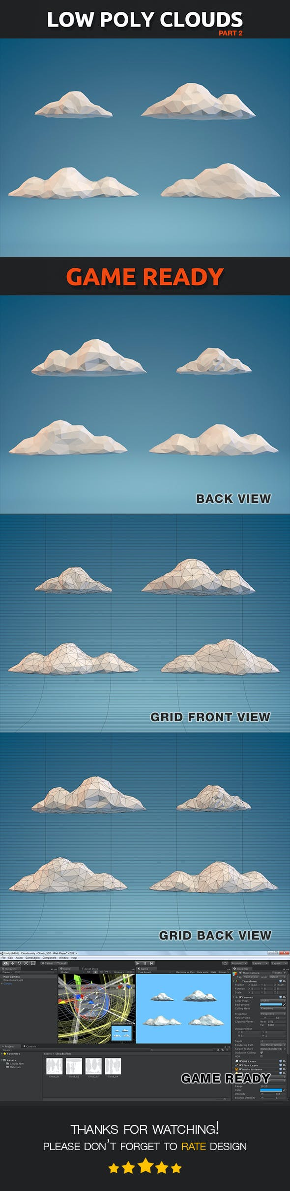 Low Poly Clouds Part 02 - 3DOcean Item for Sale