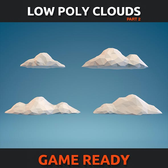 Low Poly Clouds Part 02