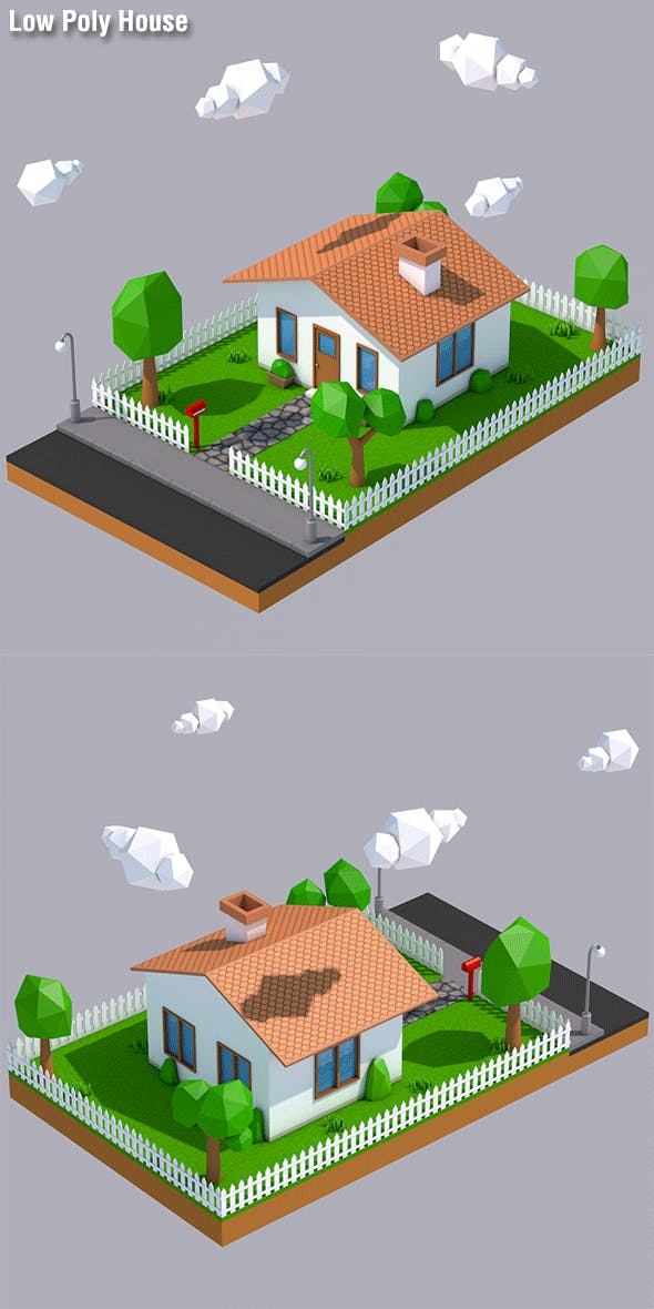 Low Poly House - 3DOcean Item for Sale