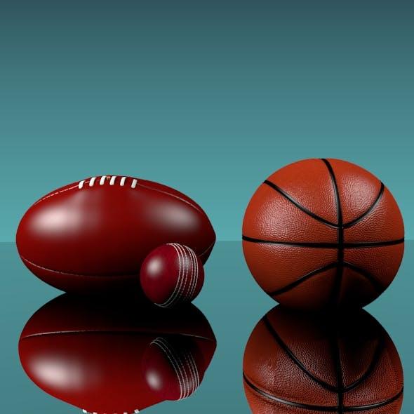Sports Balls - 3DOcean Item for Sale