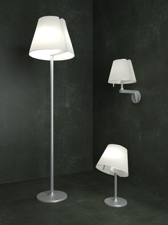Melampo Lamps - 3DOcean Item for Sale