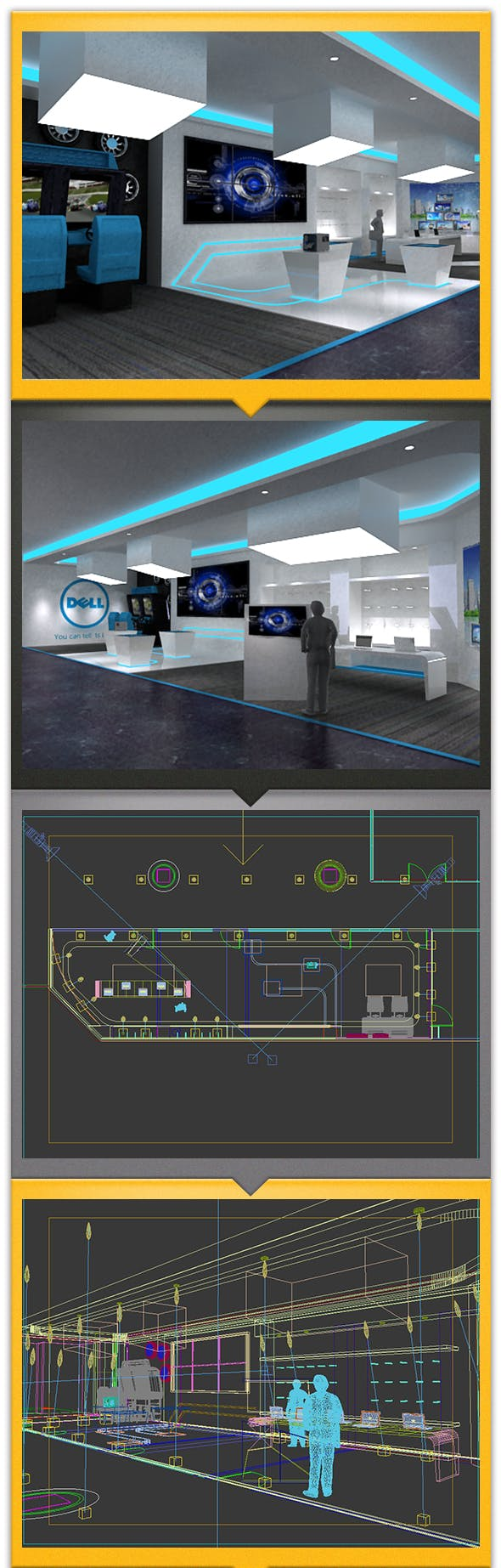 Technology Exhibition design - 3DOcean Item for Sale