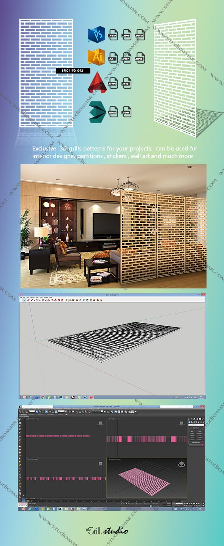 Brick (3D screen) PD_G12 - 3DOcean Item for Sale