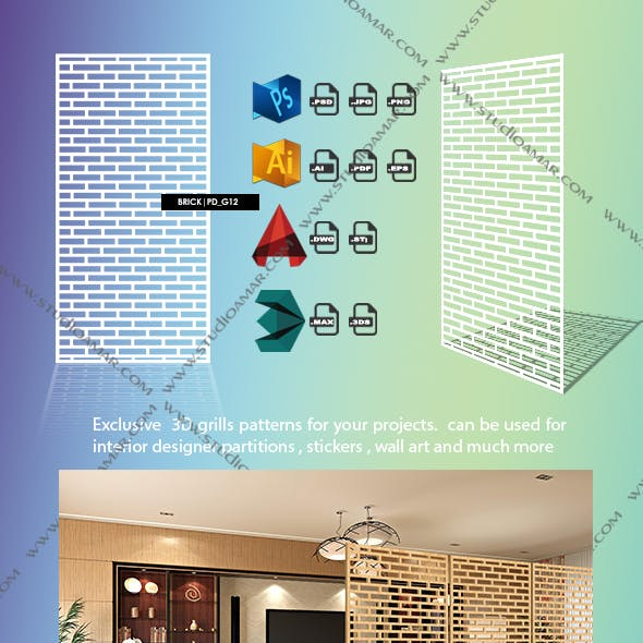 Brick (3D screen) PD_G12