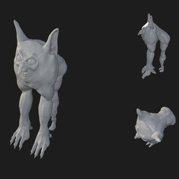 High-Poly Sculptris Mutant