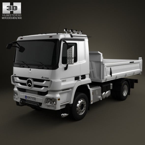 Mercedes-Benz Actros Tipper 2-axis 2011 - 3DOcean Item for Sale