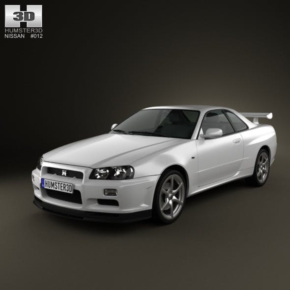 Nissan Skyline R34 GT-R coupe 1999 - 3DOcean Item for Sale