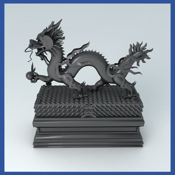 Dragon Statue  - 3DOcean Item for Sale