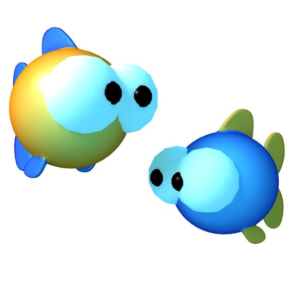 Zodiac Pisces Cartoon - 3DOcean Item for Sale