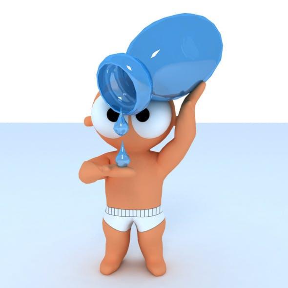 Zodiac Aquarius Cartoon - 3DOcean Item for Sale