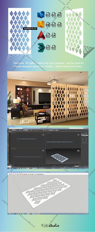 Diamonds (3D screen) PD_G18 - 3DOcean Item for Sale