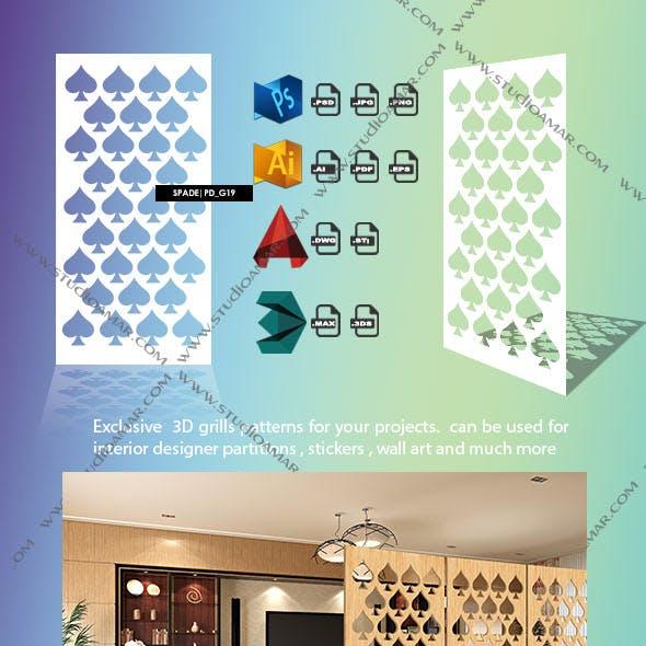 Spade (3D screen) PD_G19
