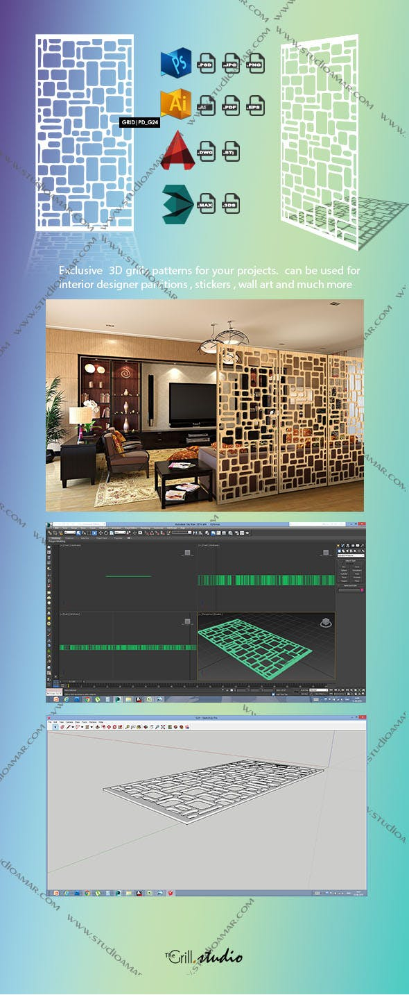 Grid (3D screen) PD_G24 - 3DOcean Item for Sale