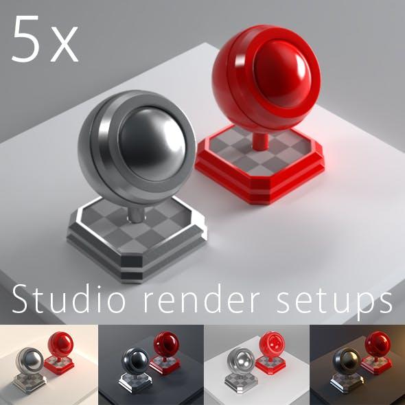 5 Professional studio setups for 3ds max 2016+ & V-Ray 3.4+