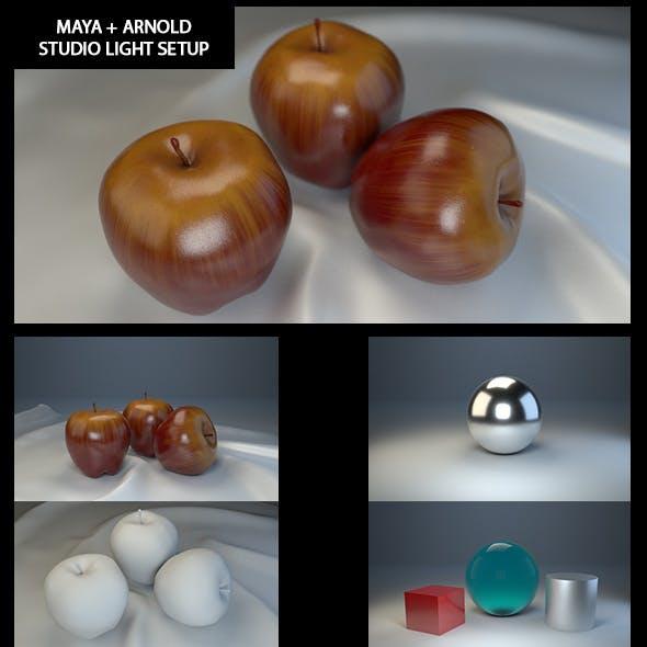 STUDIO LIGHT SETUP MAYA ARNOLD RENDER - 3DOcean Item for Sale