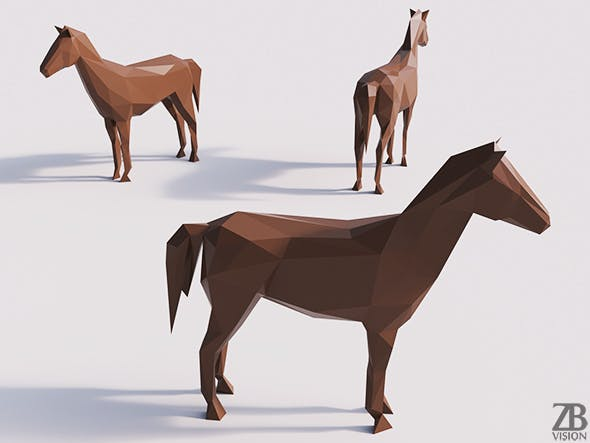Lowpoly Horse 001 - 3DOcean Item for Sale