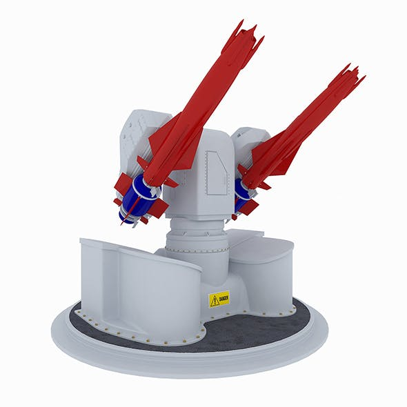 Sea Dart surface-to-air missile system 3d model - 3DOcean Item for Sale