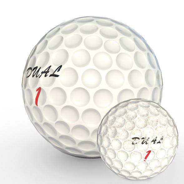 Golf Ball Low Poly PBR Textures 2 Types - 3DOcean Item for Sale