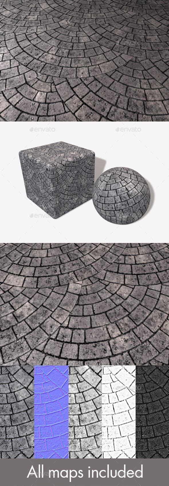 Circular Grey Brick Paving Seamless Texture - 3DOcean Item for Sale