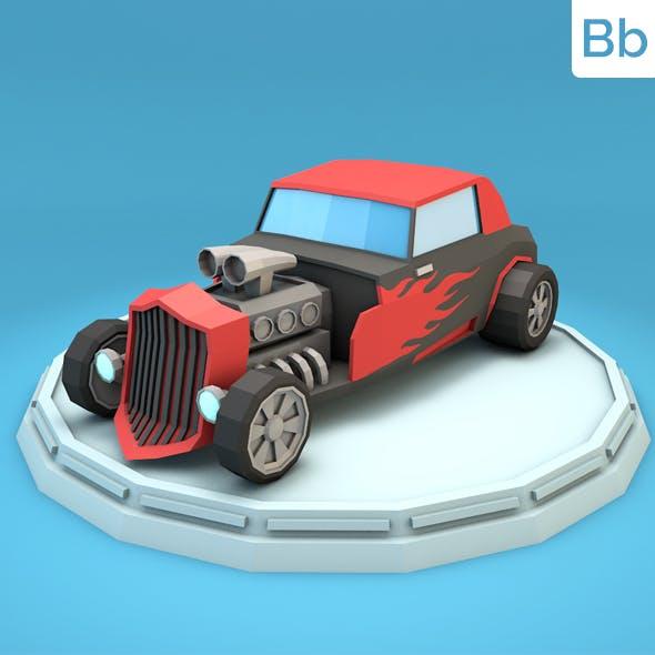 Low Poly Hot Rod Car