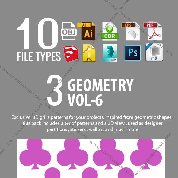 3D  GRILL PARTITIONS ( VOL-06)