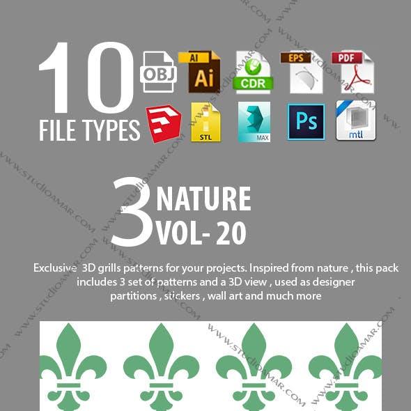 3D GRILL PARTITIONS ( VOL-20)